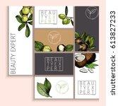 vector set of cosmetic branding.... | Shutterstock .eps vector #613827233