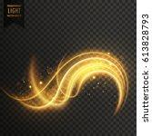 golden swirl transparent white...   Shutterstock .eps vector #613828793