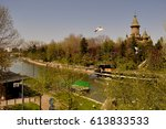 walking on the side of the river | Shutterstock . vector #613833533
