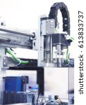 in laboratory. medical... | Shutterstock . vector #613833737