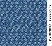 seamless denim jeans pattern... | Shutterstock . vector #613857743