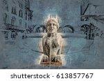 piazza vecchia  citta alta ... | Shutterstock . vector #613857767
