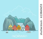 norway country design template. ... | Shutterstock .eps vector #613860653