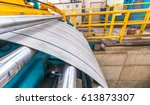 metal cutter machine for steel... | Shutterstock . vector #613873307
