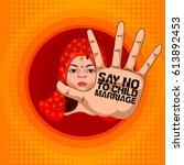 social awareness concept poster ... | Shutterstock .eps vector #613892453