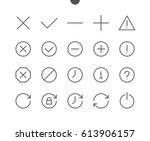 control ui pixel perfect well... | Shutterstock .eps vector #613906157