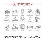 concussion. symptoms  treatment.... | Shutterstock .eps vector #613906967
