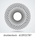 halftone dots in circle form.... | Shutterstock .eps vector #613921787