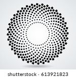 halftone dots in circle form.... | Shutterstock .eps vector #613921823