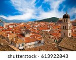 beautiful view of dubrovnik old ...   Shutterstock . vector #613922843