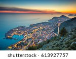 dubrovnik  croatia. beautiful... | Shutterstock . vector #613927757