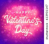 valentines day card or banner...   Shutterstock . vector #613931147