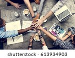 collaboration connection team... | Shutterstock . vector #613934903