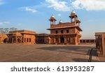 fatehpur sikri diwan i khas   a ...   Shutterstock . vector #613953287