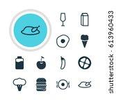 illustration of 12 cooking... | Shutterstock . vector #613960433