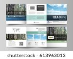 templates for tri fold square... | Shutterstock .eps vector #613963013