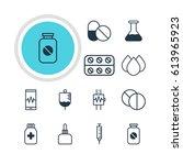 vector illustration of 12... | Shutterstock .eps vector #613965923