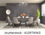 interior dining area. 3d... | Shutterstock . vector #613976963