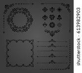 vintage set of vector... | Shutterstock .eps vector #613982903