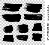 grunge black rough brush... | Shutterstock .eps vector #613983167