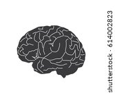 brain icon  vector illustration ... | Shutterstock .eps vector #614002823