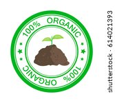 eco icon stamp with text 100... | Shutterstock . vector #614021393
