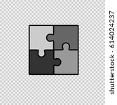 puzzle icon. business teamwork... | Shutterstock .eps vector #614024237