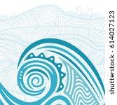 beautiful sea wave. vector...   Shutterstock .eps vector #614027123