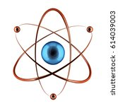 nuclear symbol isolated on the... | Shutterstock . vector #614039003