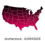 map of usa | Shutterstock .eps vector #614042633