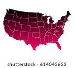 map of usa | Shutterstock .eps vector #614042633