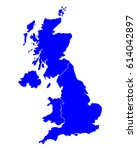 map of united kingdom | Shutterstock .eps vector #614042897