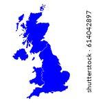 map of united kingdom | Shutterstock .eps vector #614042897