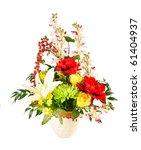 artificial flower arrangement | Shutterstock . vector #61404937