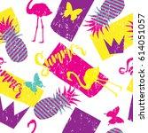 seamless pattern for girls....   Shutterstock .eps vector #614051057