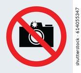 no photo sign gray
