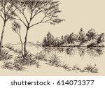 Hand Drawn Artistic Landscape....