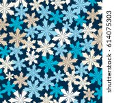 abstract winter seamless... | Shutterstock .eps vector #614075303