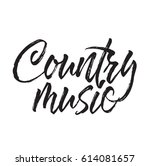country music  text design.... | Shutterstock .eps vector #614081657