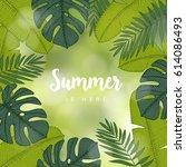 summer greeting card ... | Shutterstock .eps vector #614086493