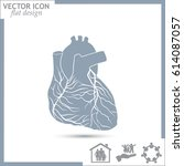 heart icon | Shutterstock .eps vector #614087057