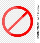 no entry  | Shutterstock .eps vector #614110667