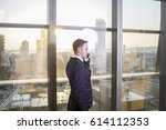 young suit up businessman... | Shutterstock . vector #614112353