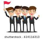 business man teamwork | Shutterstock .eps vector #614116313