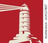 lighthouse  beacon  lighthouse... | Shutterstock .eps vector #614117807