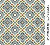 romanian traditional motifs... | Shutterstock .eps vector #614136653
