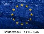 flag of europe | Shutterstock . vector #614137607