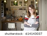 shot of a happy mature coffee... | Shutterstock . vector #614143037