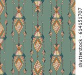 vector tribal vintage ethnic... | Shutterstock .eps vector #614151707