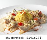 Chicken with rice - stock photo